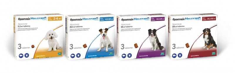 Таблетки Фронтлайн Нексгард от клещей и блох у собак