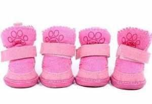 Розовые угги для собаки