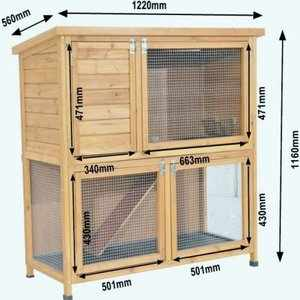 Описание рекомендуемых размеров для постройки клеток кроликам