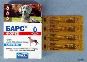 Капли Барс для взрослых собак