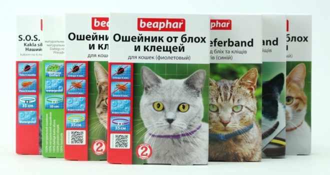 Ошейник от блох для кошек Беафар
